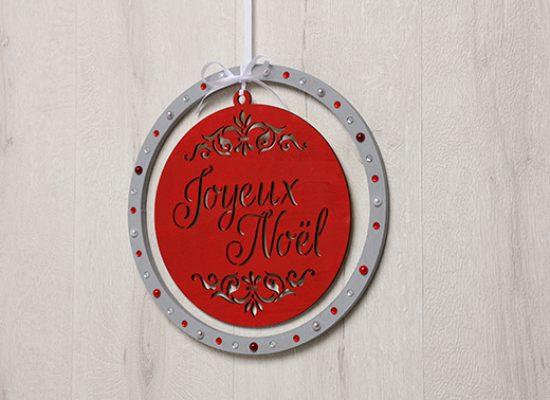 médaillon Joyeux Noël Barok