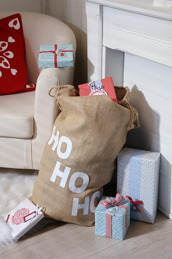 hotte Père Noël cadeaux