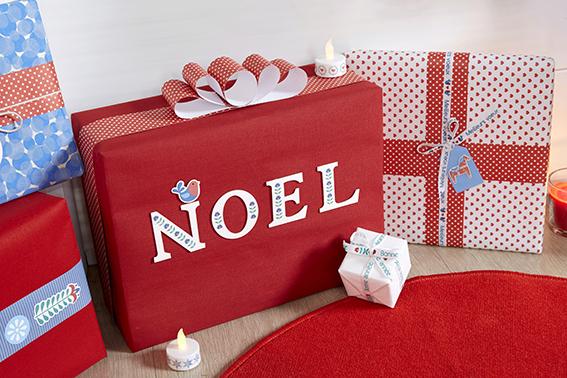 emballages cadeau Noël folk