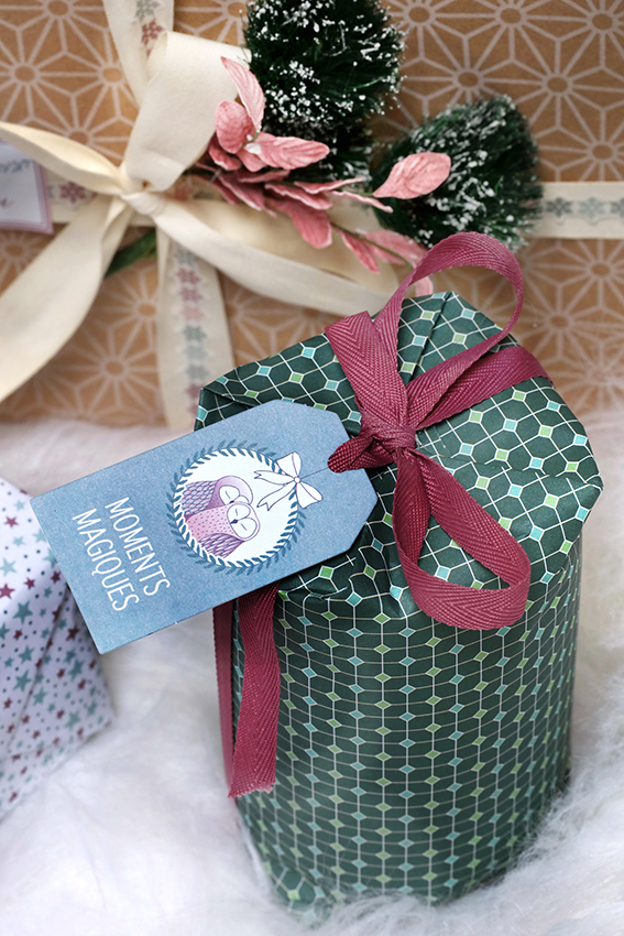 emballage cadeau Noël Isatis animaux