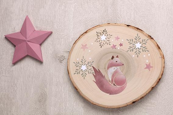 rondins Isatis Noël décoration murale