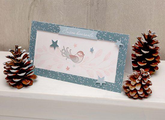 carte Noël Isatis oiseau