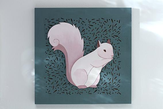 cadre Isatis Noël écureuil hiver