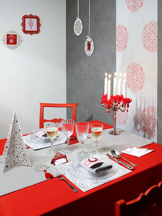 table Barok Noël rouge