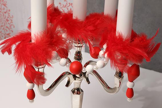 table Barok Noël rouge chandelier