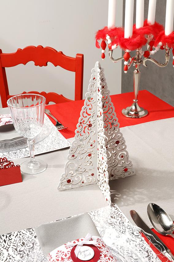 table Barok Noël rouge sapin