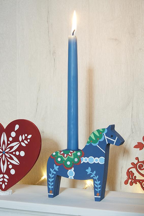 décoration Noël folk chandelier cheval