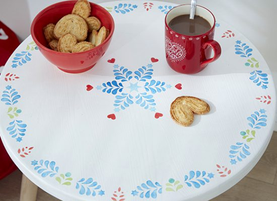 table Noël Folk flocon