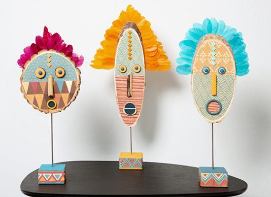 petits artistes sculpture totem africaine