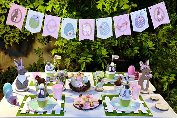 table Pâques Happy Spring