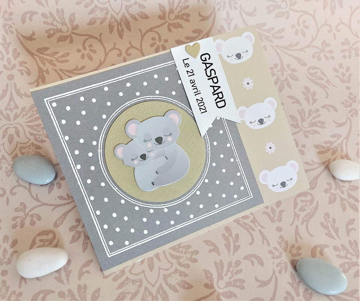 carte naissance koala