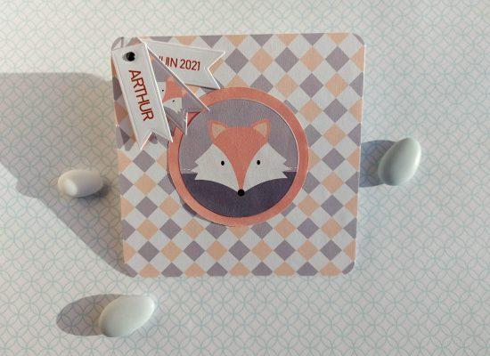 carte naissance renard