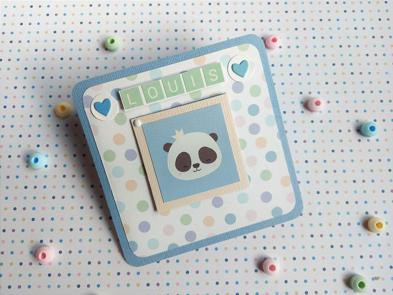 carte naissance panda