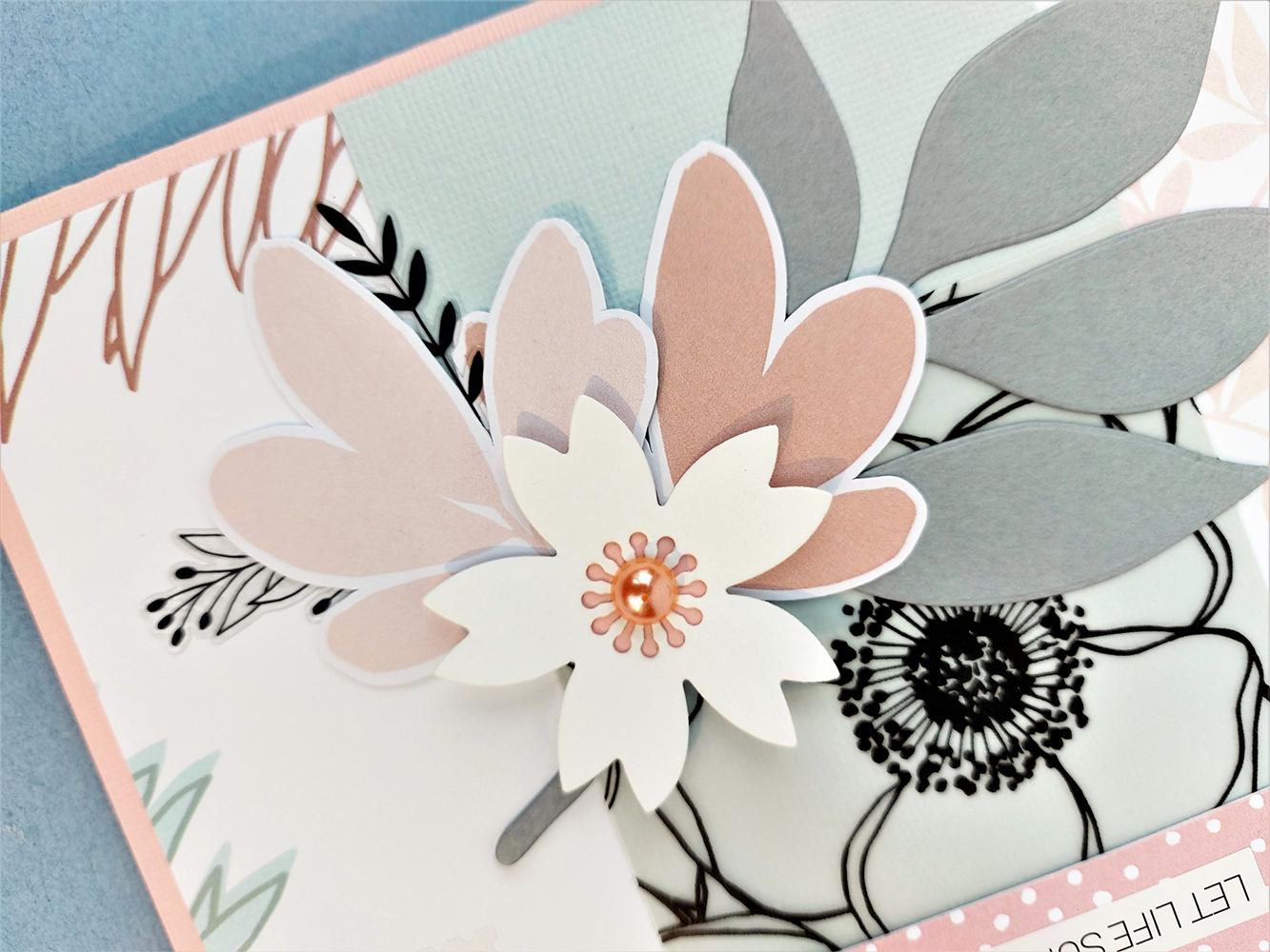 carte slow life fleurs