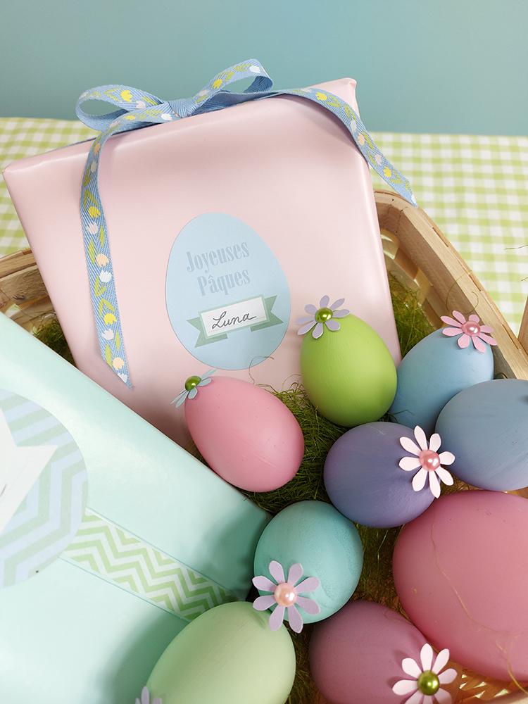Pâques chasse aux œufs cadeaux