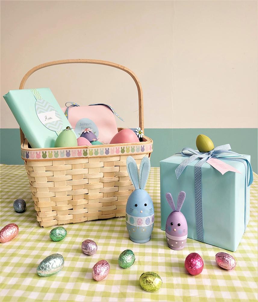 Pâques chasse aux œufs panier