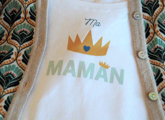 transfert textile fête des mères