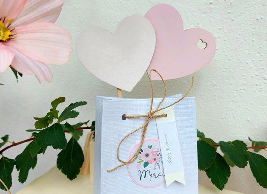 mariage bohème boîte remerciements