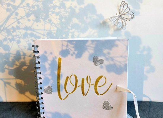 livre d'or mariage or et papillons